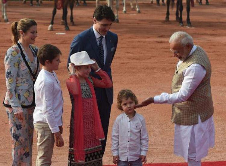 Hadrien Trudeau bored on trip to India
