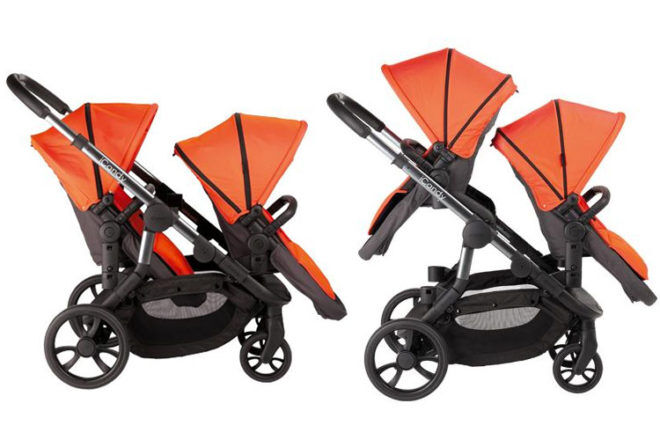 iCandy Orange stroller double toddlers