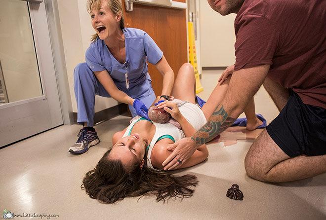Hospital floor birth
