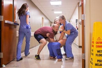 Baby born in hospital corridor Maxwell Alexander