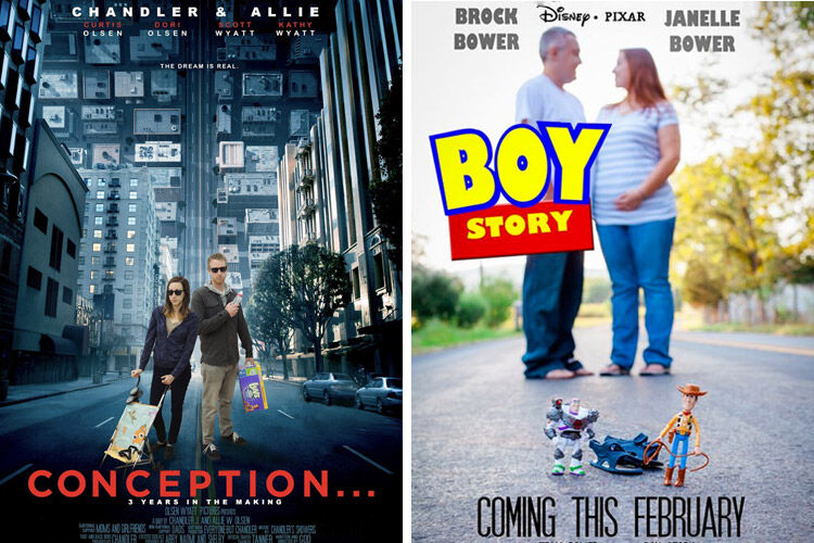 Movie Poster pregnancy announcements