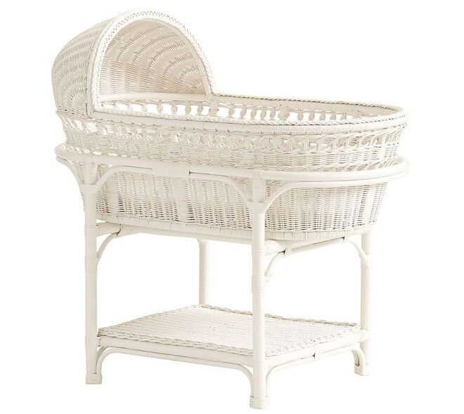 Pottery Barn Bassinet and Mattress Pad white