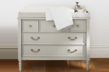 Pottery Barn Kids blythe dresser change table grey