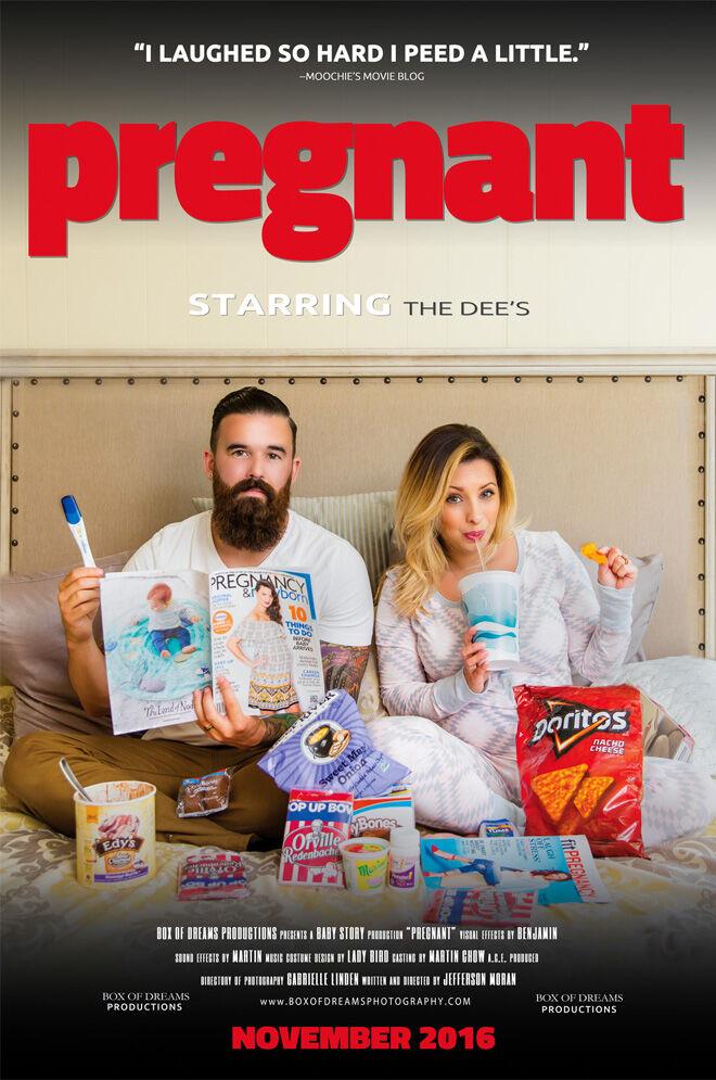 Pregnant: movie poster pregnancy announcement