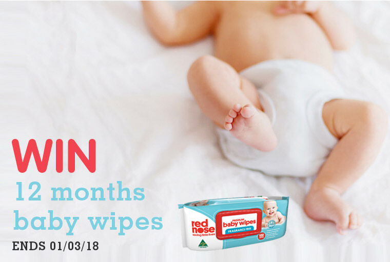 Win a years worth of Red Nose Baby Wipes