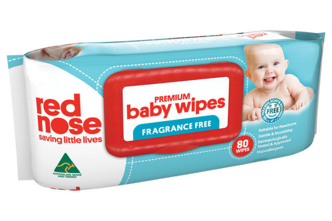 Red Nose Baby Wipes