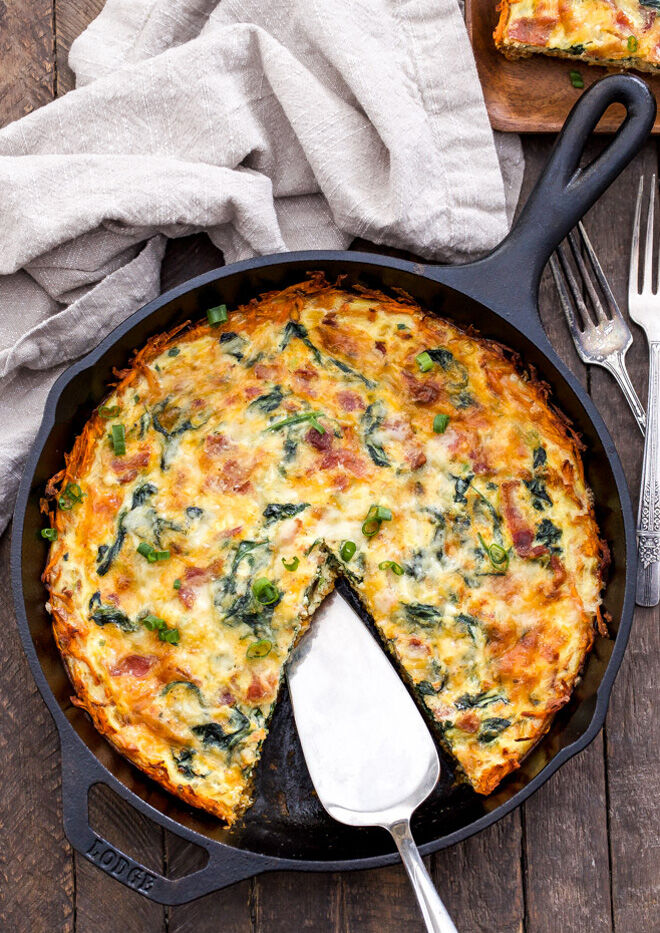 Gestational diabetes breakfast quiche and sweet potato recipe