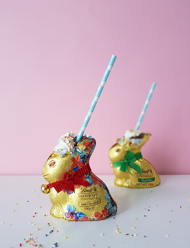 Easter bunny milkshake recipe