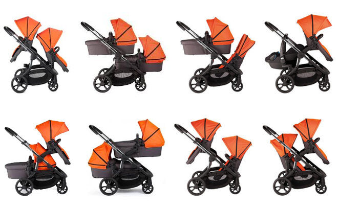 iCandy Orange double configuration options