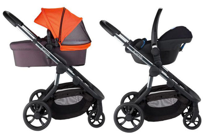 iCandy Orange newborn carrycot and travel system