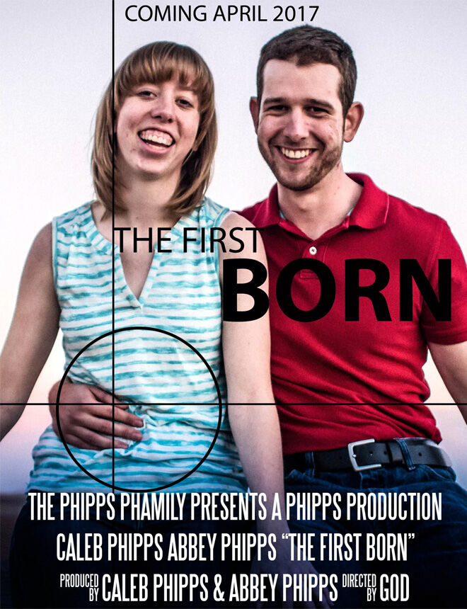 The First Born pregnancy announcement movie poster