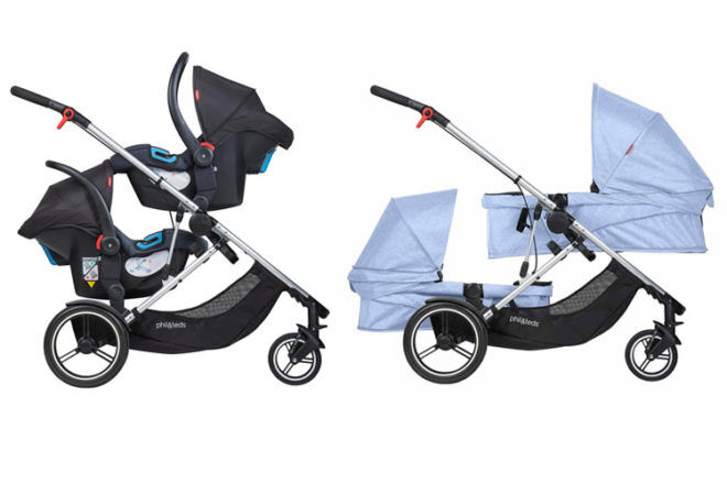 Phil & ted's voyager twin pram