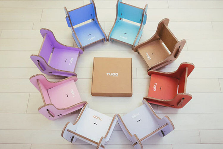 Tuoo Cardboard Portable High Chair