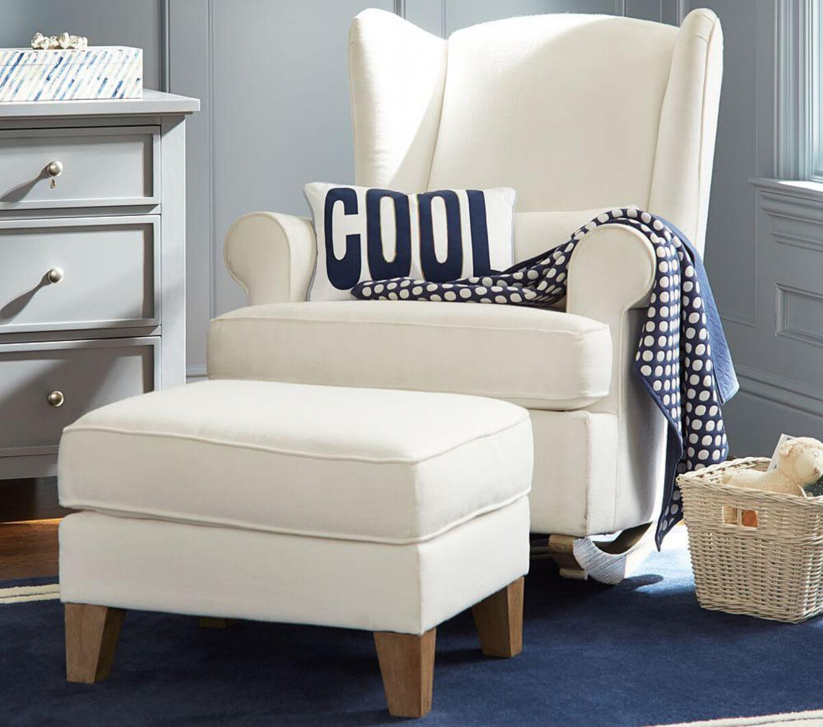Pottery Barn Kids Wing Backed Nursing Chair