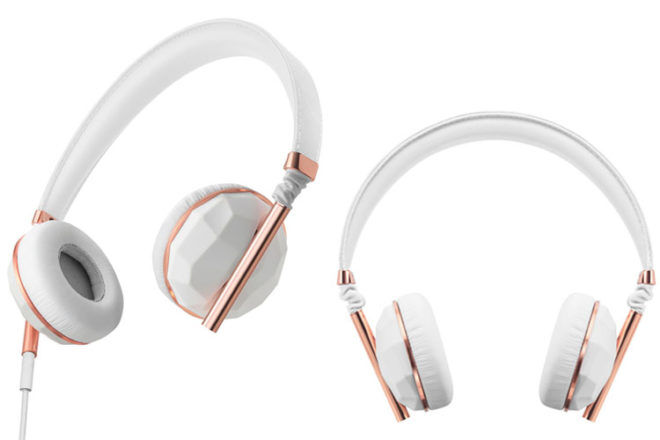 Caeden linea headphones, Ceramic & Rose Gold
