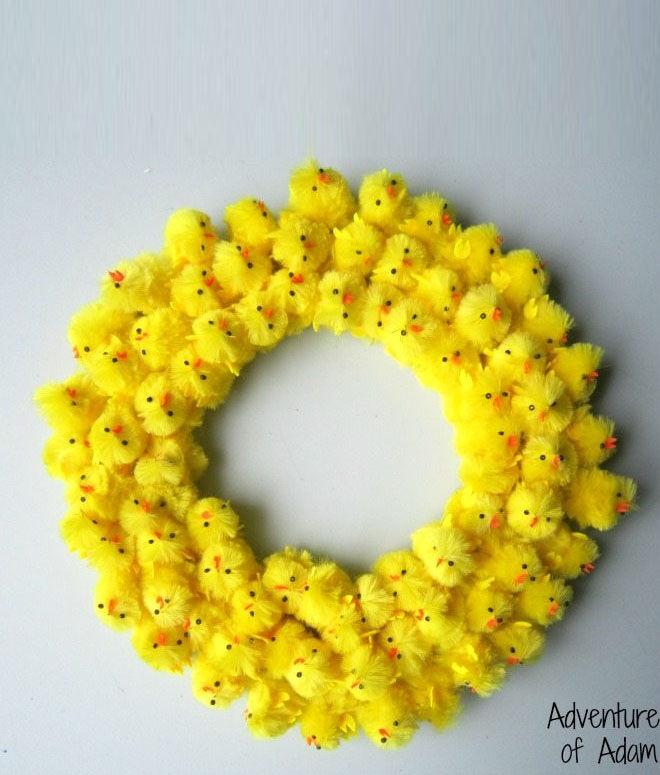 Chick Easter wreath