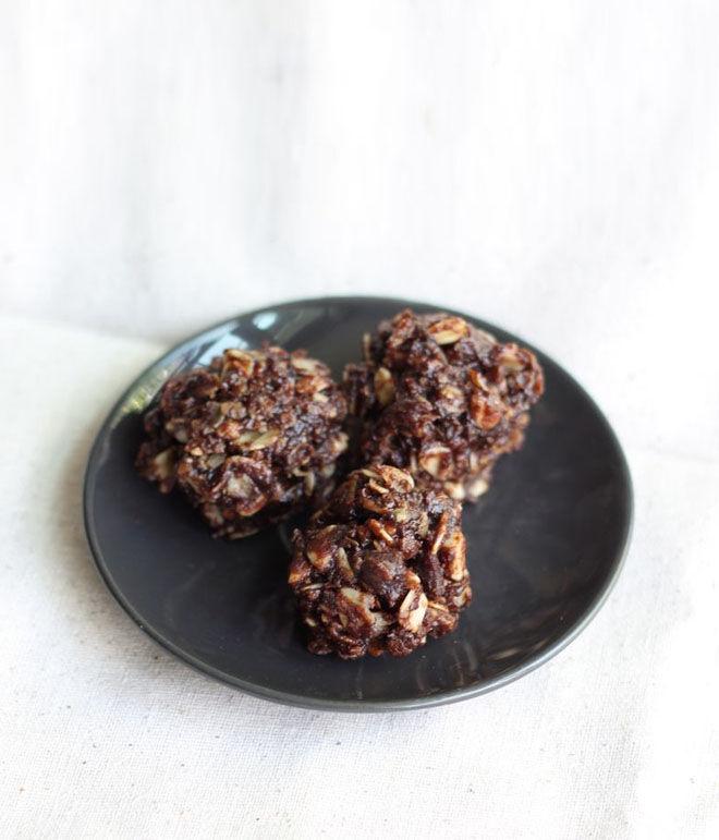 Chocolate Almond No Bake Lactation Cookies