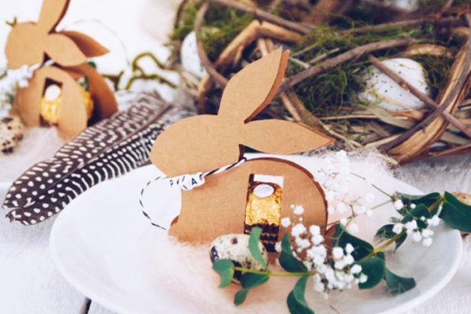 Easter bunny with Ferrero Rocher