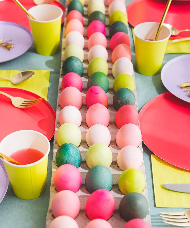 Easter egg table runner