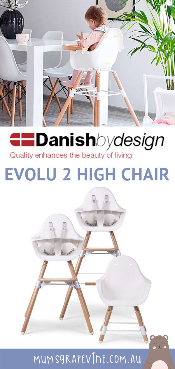 Evolu Review: We take review the Evolu 2 High Chair, a clever high chair that converts to a toddler chair