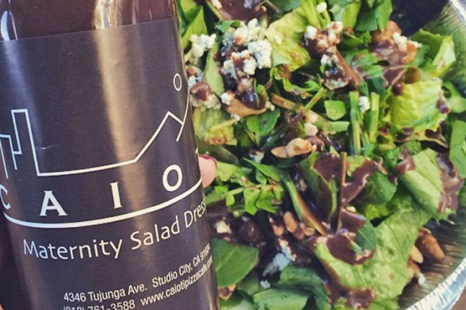Labour inducing salad dressing