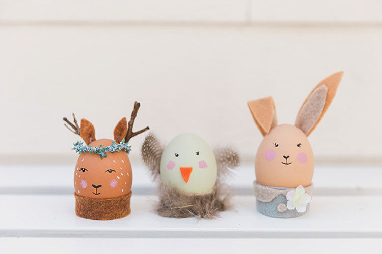 animal friend Easter egg craft idea