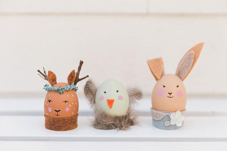 animal friend Easter egg craft idea