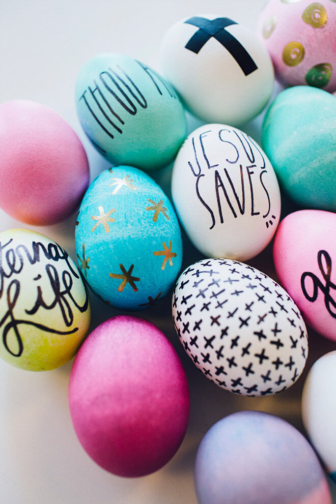 Easter Egg Decorating: Inspirational quotes Easter eggs