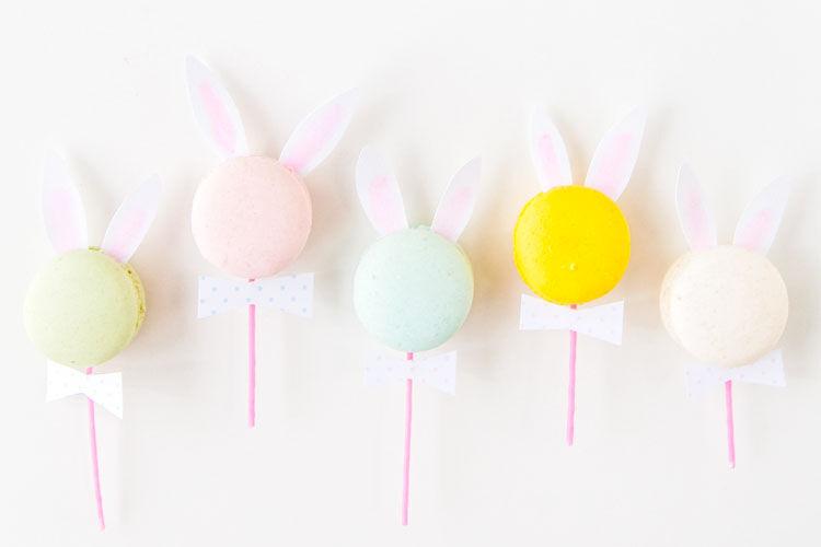 bunny ear macarons