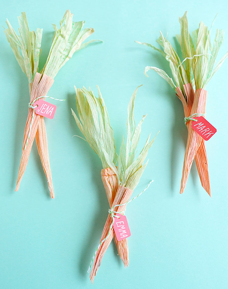 Easter carrots DIY name tags
