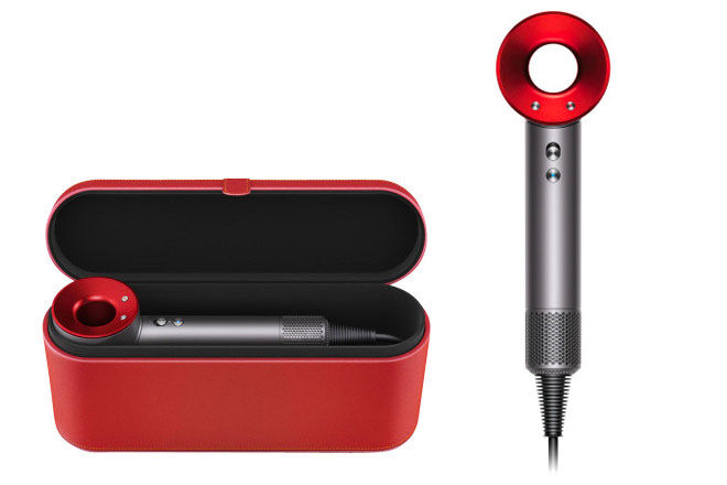 Dyson hairdryer, red