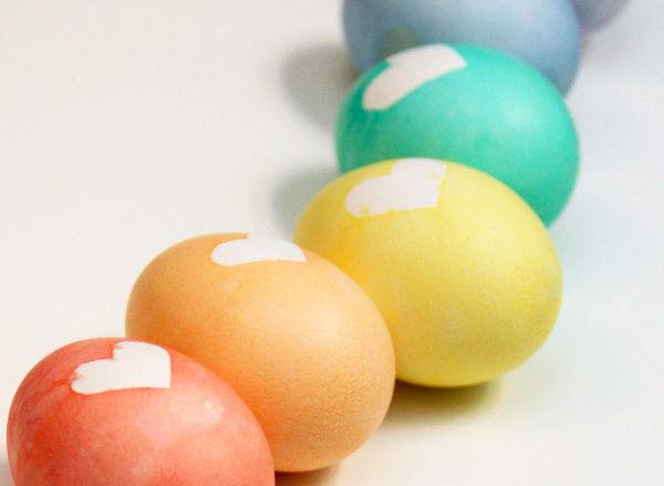 Easter egg heart rainbow