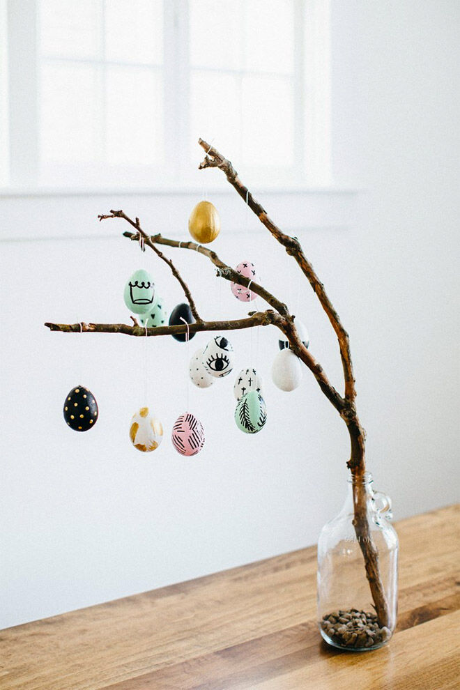 Easter Egg Decorating: Easter egg tree