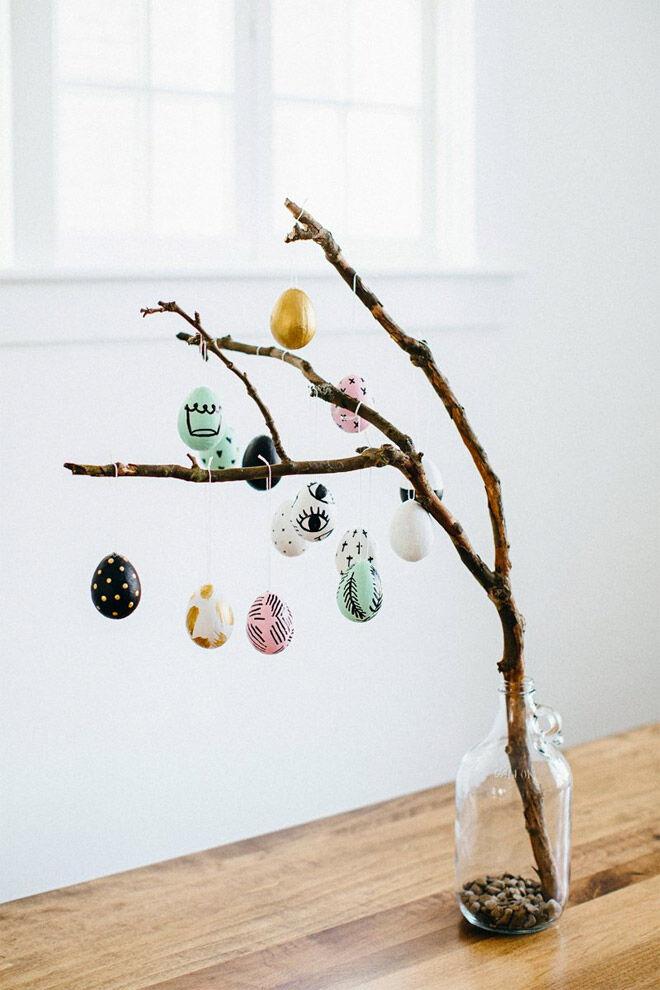 Easter Egg Decorating: Easter egg tree