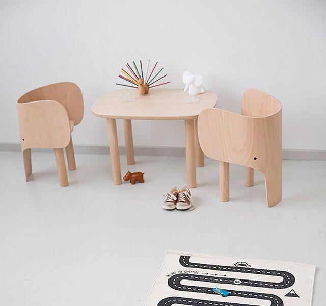 Element Optimal Denmark Beechwood Elephant Table and Chair