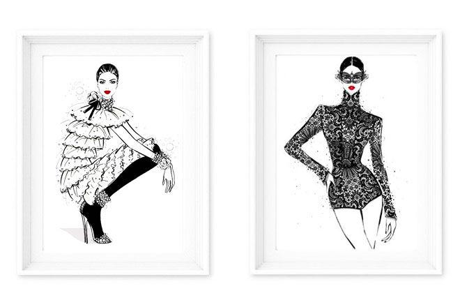 Megan Hess fashion prints