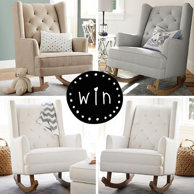 Pottery Barn Kids nursery chair giveaway