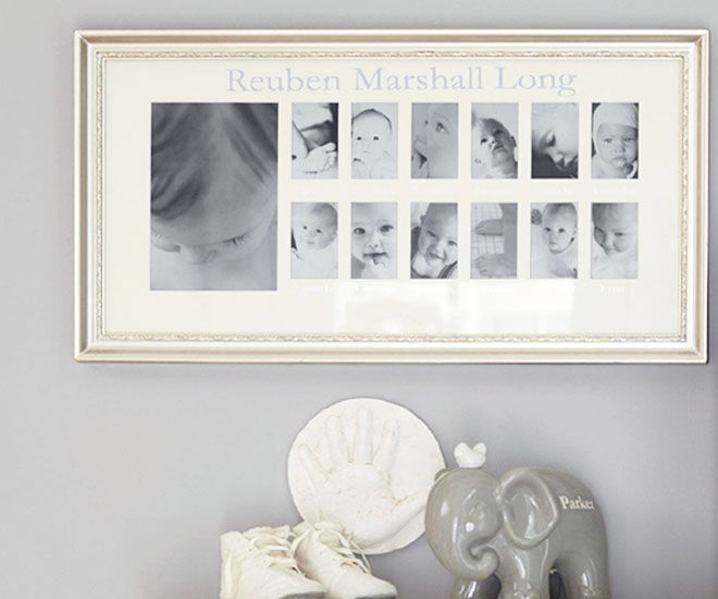 Pottery Barn Kids, Silver First Year Frame