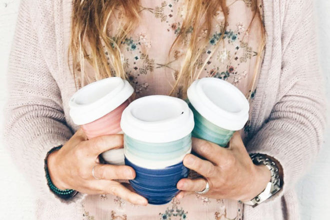 Pottery for the Planet, original reusable ceramic coffee cup