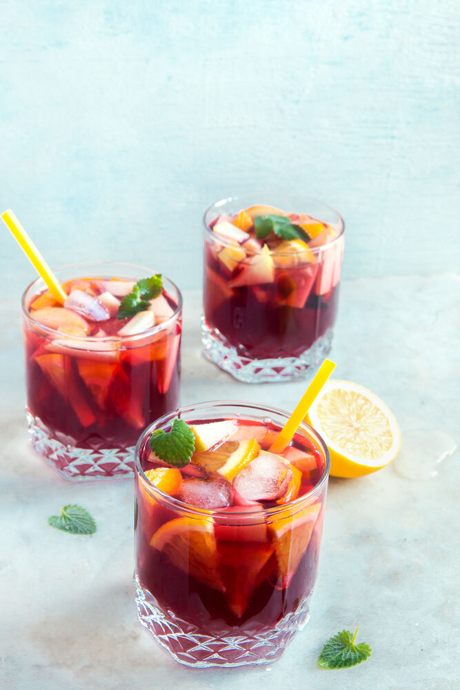 sangria sunset mummy mocktail
