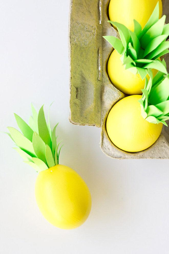 Easter Egg Decorating: pineapple eggs for Easter