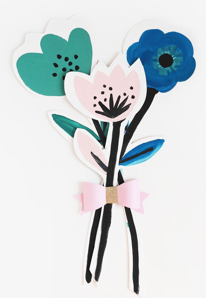 Card flowers Mother's Day craft