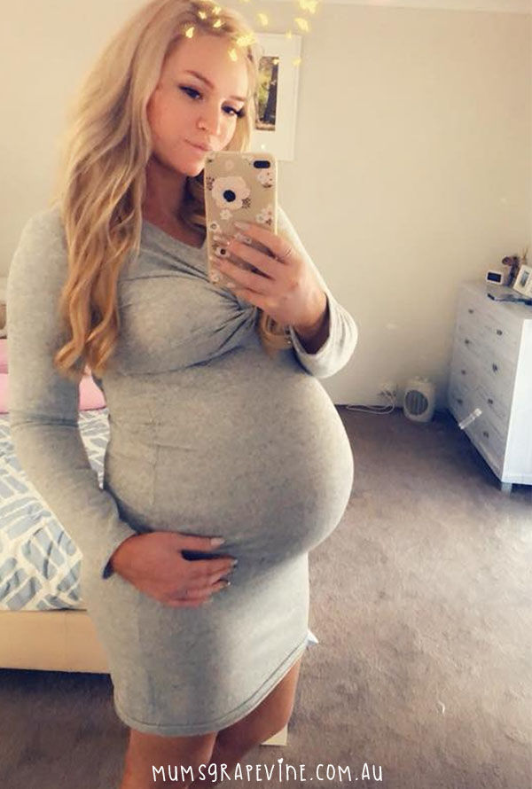 """80418bf6c5a8f Kristie Mame Hoffmann from the Autumn Due Group (2018) showed off her  gorgeous 37-week bump in the dress, saying, """"Mummas if you're after a nice ' maternity ..."""