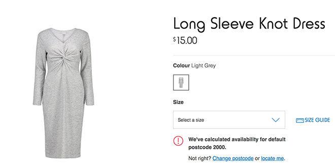 Long Sleeve Knot dress Kmart