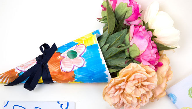 Micador art wrapped flowers for Mother's Day