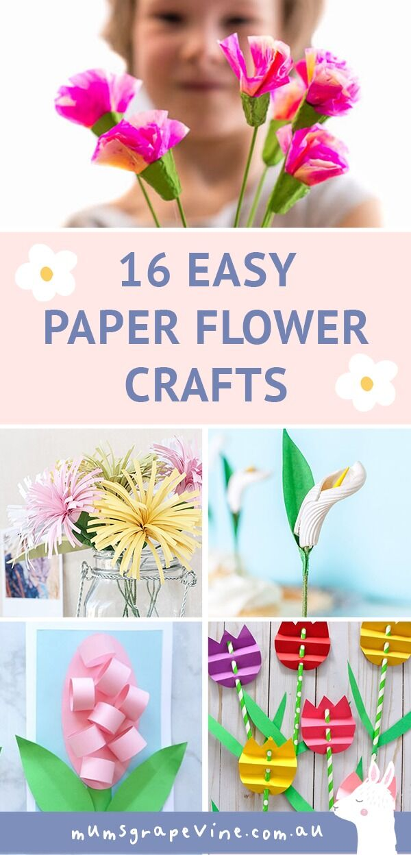 Mother's Day Crafts: Paper Flower Crafts