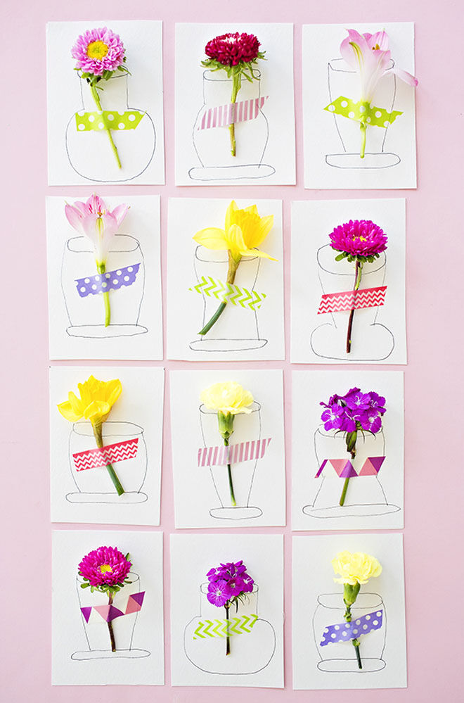 Mother's Day craft flower cards