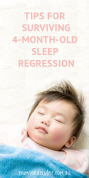 Tips for surviving 4 month old sleep regression