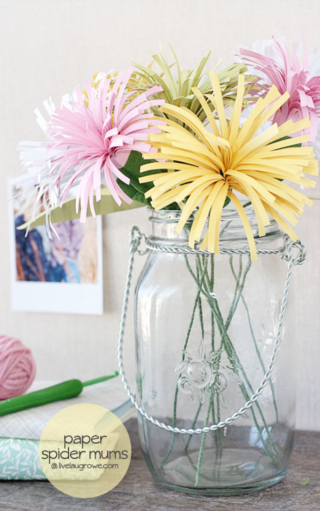 Paper flowers Mother's Day craft