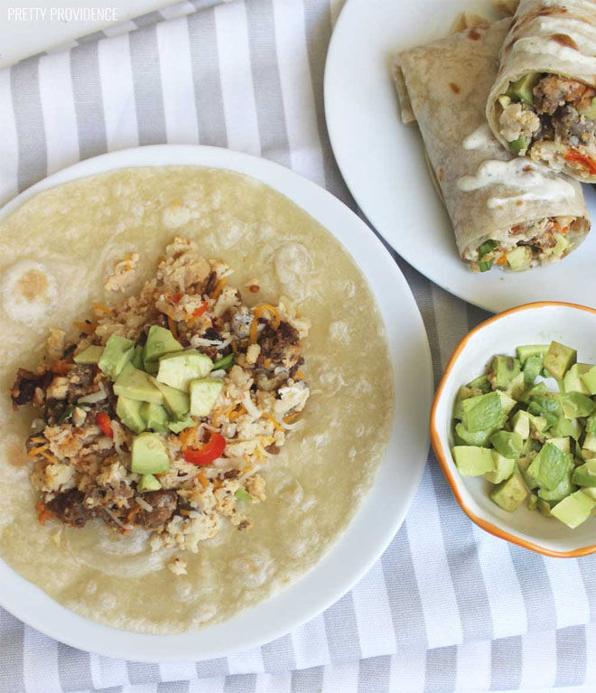 Slow Cooker Breakfast Burritos